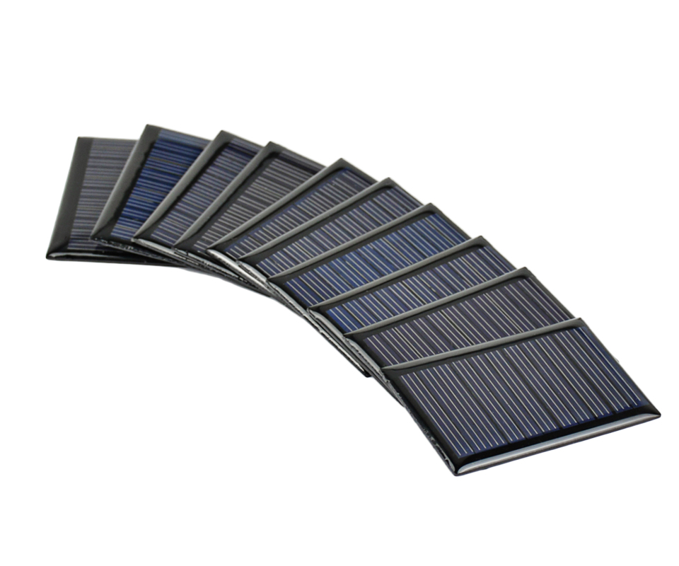 Aoshike 10Pcs Solar Panels Polycrystalline Silicon Flexible Solar Power Charger 5.5V 0.22W 54.5x38mm DIY Portable Solar cells 5