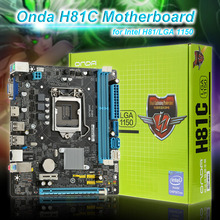 Onda H81C Motherboard Systemboard Mainboard for Intel H81/LGA 1150 mATX SATA USB3.0 Dual Channel DDR3 for Desktop(China)