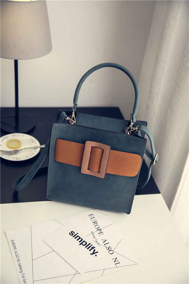 Fashion first layer of cowhide handbag nubuck leather messenger bag genuine leather color block womens personality handbag<br><br>Aliexpress