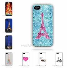 Impressionism Paris Saint Germain Eiffel Tower Plastic Cell Phone Case For Apple iPhone 5 5G 5S Custom Printed Mobile Cover