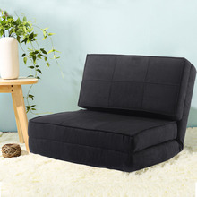 Fold Down Chair Flip Out Lounger Convertible Sleeper Bed Couch Game Dorm Guest HW52445BK