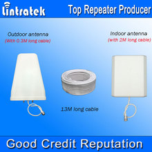 13 Meters Cable Antenna Full Set Accessories for GSM 900/1800MHz 3G 850/1900/2100MHz 4G 2600MHz Mobile Signal Repeater Boosters*