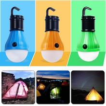 Portable 3 LEDs Lantern Tent Light Bulb for Camping Hiking Fishing Emergency Battery Powered Light(China)