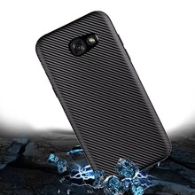 For Samsung Galaxy A3 A5 A7 2017 J1 J3 J5 J7 2015 2016 J2 J5 J7 Prime S6 S7 S8 Edge Plus J105F Carbon Fiber Soft Case Back Cover