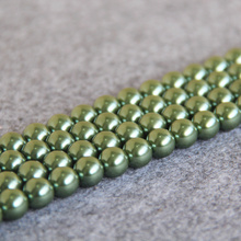 New Fashion Hot sale Green Shell beads gift for women girl loose DIY 15inch Jewelry making design Wholesale and retail