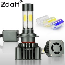 Zdatt 1Pair Super Bright H7 Led Lamp Headlights 100W 12000LM High Power Car Led Light 3000K 6000K 8000K 12V Automobiles 4 Sides(China)