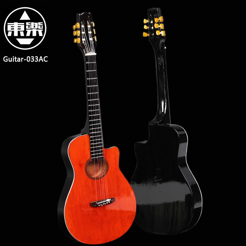 Wooden Handcrafted Miniature Guitar Model guitar-033AC Guitar Display with Case and Stand (Not Actual Guitar! for Display Only!)<br>