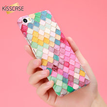 KISSCASE Fashion Hard 3D Scales Plastic Case For iPhone 6 6s 7 Plus 5 s Samsung Galaxy S8 Plus S7 Edge A3 A5 2017 Huawei P9 Plus
