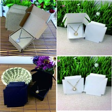 Fashion Earring/Necklace BOX Kraft BOX Pillow BOX For Earring /Necklace /Ring /Jewelry Set /Hand Made Gift 50box +50inner card(China)