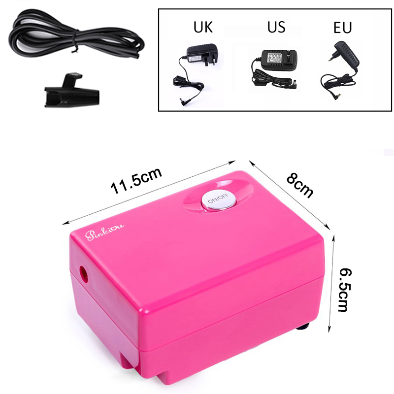 Mini Air Compressor for Airbrush Makeup Air Brush nail Face Paint Temporary Tattoo tools Spray power supply <br>