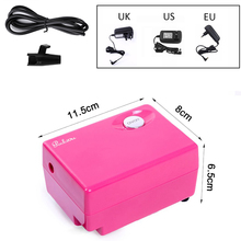 Mini Air Compressor for Airbrush Makeup Air Brush nail Face Paint Temporary Tattoo tools Spray power supply(China)