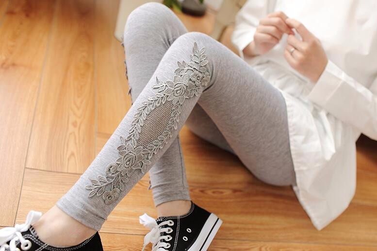 Babbytoro Brand Cotton Lace S- 7XL Leggings For Women 4