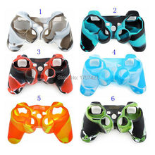 20pcs/lot Good Quality Silicone Rubber Camouflage Skin Cover Case for PS3 Wireless Game Controller(China)