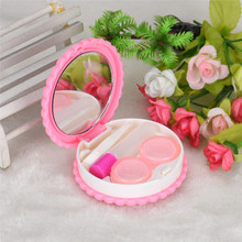 A# 1pcs Cutie Biscuit Contact Lens Case Candy color Cookie Cake Lenses Storage Box #1027(China)