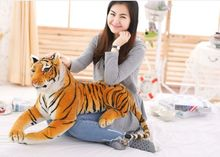 cartoon simulation prone tiger plush back cushion throw pillow toy home decoration birthday gift a1270