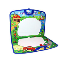 New design Drawing Toys Portable Folders Environmental Water Drawing Mats Cloth Book Painting and Writing Doodle Board for Kids(China)