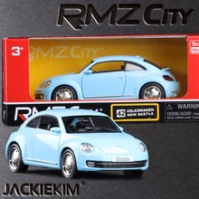 New RMZ City 1/32 Volkswagen Beetle 2012 Classic Car With Pull Back Diecast Car Model Toy Kids Gift Collection Free Shipping(China)