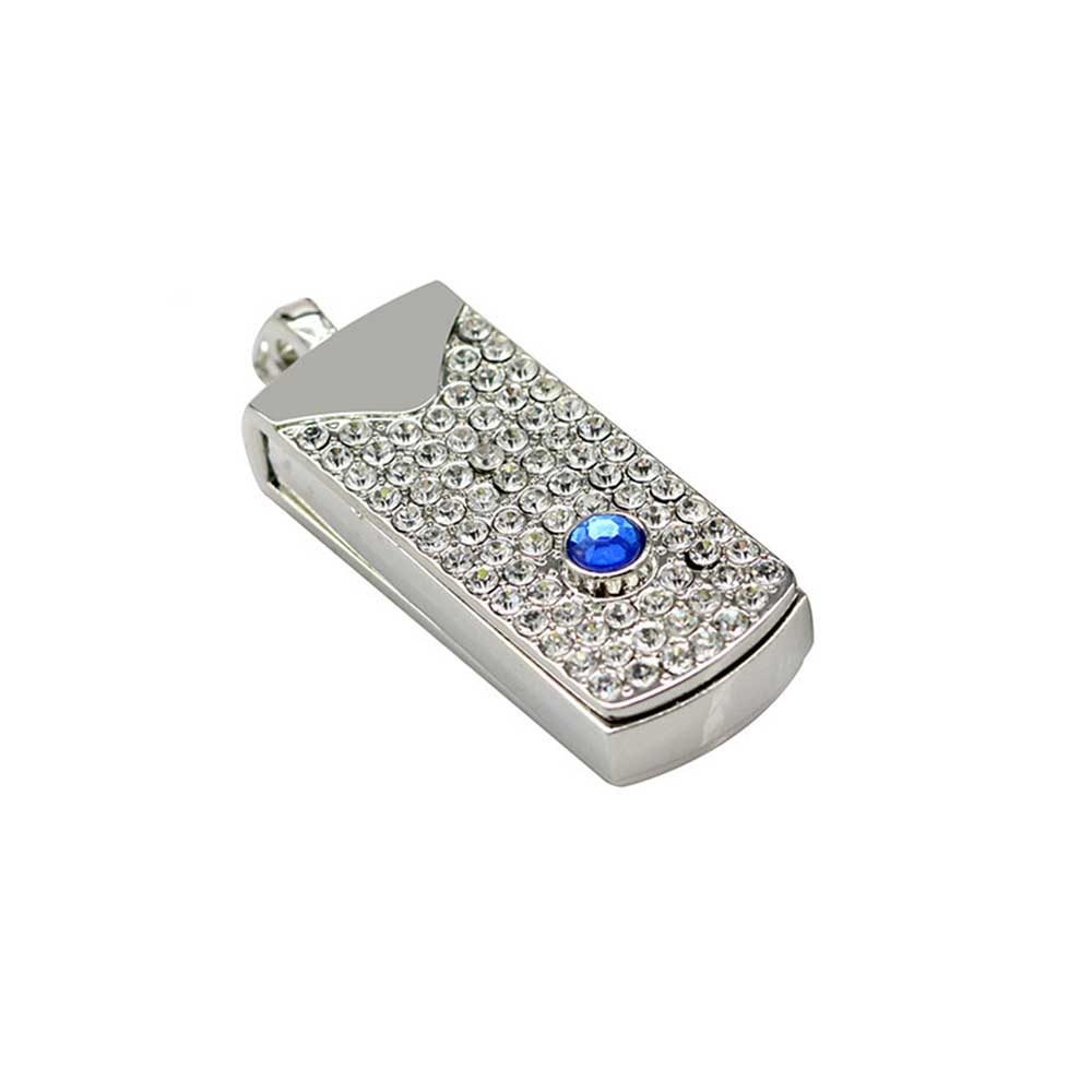 Metal Crystal Full Diamond Rotary Key Chain USB 2.0 Flash Drive 4GB 8GB 16GB 32GB 64GB 128GB Flash Disk Memory Stick Pendrive 33