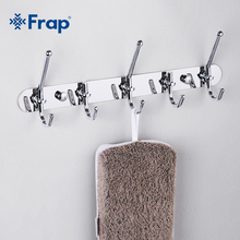 Frap High Quality Zinc Alloy Chrome-plated Clothes Hook Fixed Bathroom Towel Hanger F201-5(China)