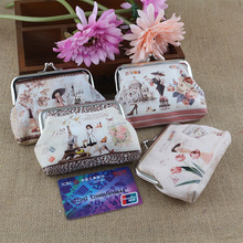 HD Digital Printing Change Purse Recreation Cute Hand Coin Bag Creative Zero Purse Mini Small Key Ring Zipper Bag for Women(China)