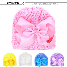 TWDVS Baby Toddler Infant Flower Headband Children Hair bands Turban Knot Rabbit Hair Bow Kids Headwear Girl Hair Accessories(China)
