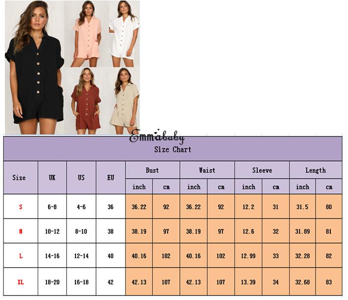 Women Lady Button Clubwear Summer Playsu