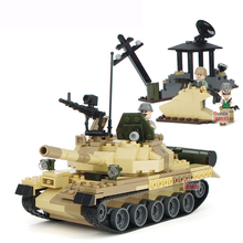 372pcs Armed Raid Tank Building Blocks Toy Baby Boy Toys Children Military Toys Kids Woods K0362-8021