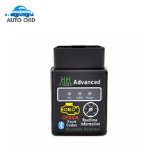 2017 HHOBD Advanced ELM327 Bluetooth OBD2 HH OBD V2.1 Check Fault Code Erase Trouble Code Scanner for Car Diagnostic