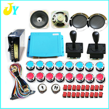 kit arcade 815 pcb board Jamma boards with arcade joystick chrome push button power supply jamma harness speakers with grill(China)