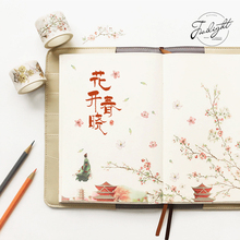Watercolor Flowers Scenery Washi Tape Adhesive Tape DIY Scrapbooking Sticker Label Masking Tape(China)