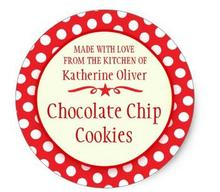 1.5inch Round red cookie exchange baking gift stickers(China)