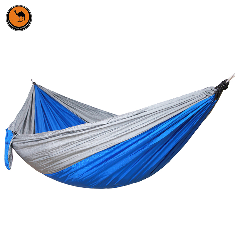 Double Folding Hammock 260*140cm High Strength Portable Camping Furniture Outdoor Travel Kits Stit Hamac Hamaca<br>