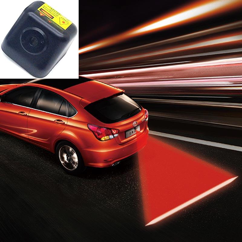 FUGSAME Anti Rear-end Car Rear Led Laser Fog Light Warning Light Auto License Plate Light Rear Tail Lamp 12V 24V Waterproof<br>