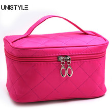 Unistyle Cosmetic Bag 3D Laser Diamond Pattern Portable Makeup Bag Case Hanging Toiletries Travel Jewelry Organizer Storage