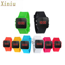 Time Date Children's Watches LED Screen Digital Silicone Strap Men's Watches Quartz Sport Kids Wrist Watch For Bady Boys Clock