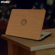 PFHEU PU Wood grain Laptop Cases for apple MacBook Air 11 13 for MAC Pro Retina 12 13.3 15 inch with Touch Bar New