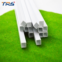 scale  ABS smooth  square tube,Dia 10mm length 50cm Bar for architectural model Layout making materials