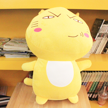 Special cute 1pc 55cm large funny cartoon cat plush doll hand pillow stuffed toy children novelty gift for girl<br>