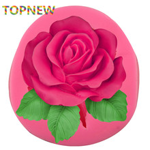 3D Rose Leaves Handmade Soap Silicone Mold Sugar Fondant Cake Decorating Tools(China)