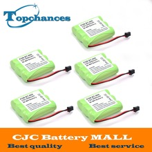 5 pcs High Quality 3.6v 2000 mAh NI-MH Phone Battery for Panasonic KX-A36 P-P501 for Uniden BT-905