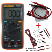 LCD Digital multimeter AN8004 voltmeter ammeter resistance tester DC / AC 750/1000V and volt ohmmeter Crocodile clip test line(China)