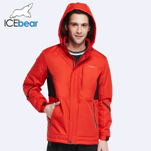ICEbear 2017 New Autumn Spring Slim Jacket Men Cotton Padded Short Thin Coat Cotton Three Colors Plus Size 17MC112(China (Mainland))
