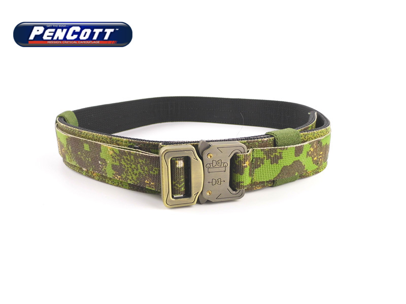 Shooter Hard 1.5 Inch Mens Military Belts Buckle Belt Unisex Military Belt PenCott GreenZone+Free shipping(STG050668)<br>
