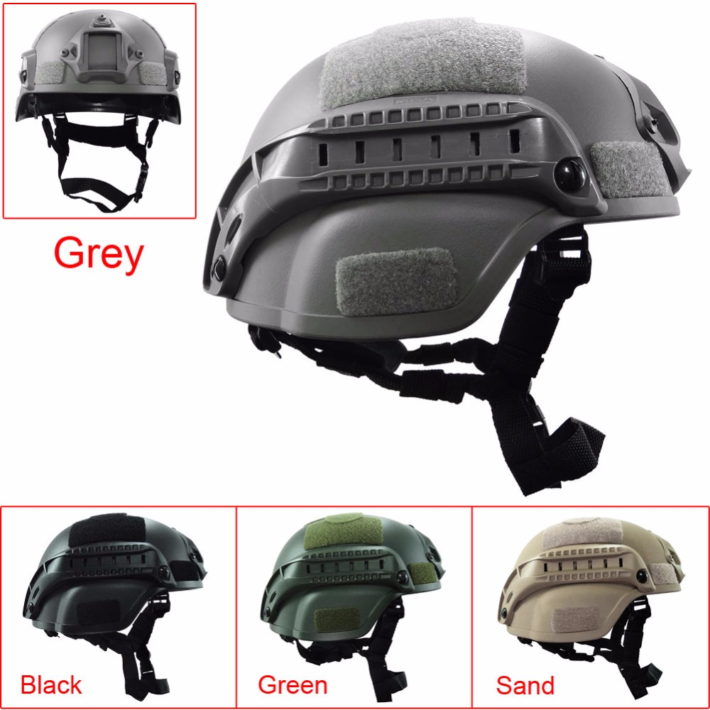 Outdoor Army Military Tactical Helmet Cover Simplified Action Combat Riding Helmet Paintball Fast Protective Face Mask MICH2000<br><br>Aliexpress