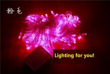 10M Waterproof 110V/220V pink 100 LED holiday String lights Christmas Festival Party Fairy Colorful Xmas Light - NOV Lighting professional Store store