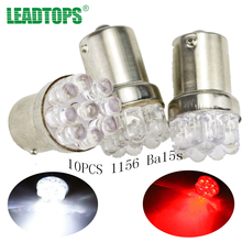 10X Car 9 SMD LED 1156 ba15s  12V bulb Lamp Truck Car Moto Tail Turn Signal Light  White Red Blue yellow (BA15S(1156)) AA