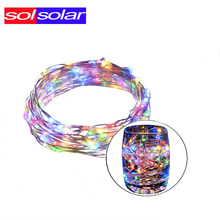 SOLSOLAR 10M 100LED Novelty Copper Fairy Lights 5V USB LED Night Light For Toy Desk Flower Home party Decoration nightlight(China)