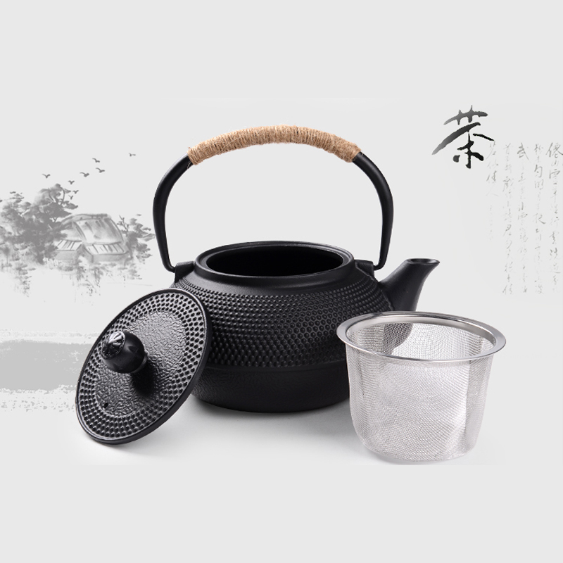 Southern Cast iron kettle old iron pot shells tea pots health boiler scale iron pot 800ml 7