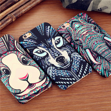 Hot Luminous Jungle Animal Tiger Wolf Elephant Night Light Glow Matte Slim Phone Cases Cover For iPhone 7 7Plus 5S SE 6 6S 6Plus