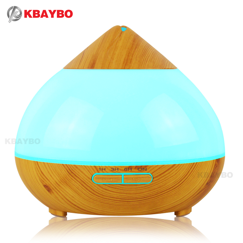 300ml Air Humidifier Essential Oil Diffuser Aroma Lamp Aromatherapy Electric Aroma Diffuser Mist Maker for Home-Wood<br>